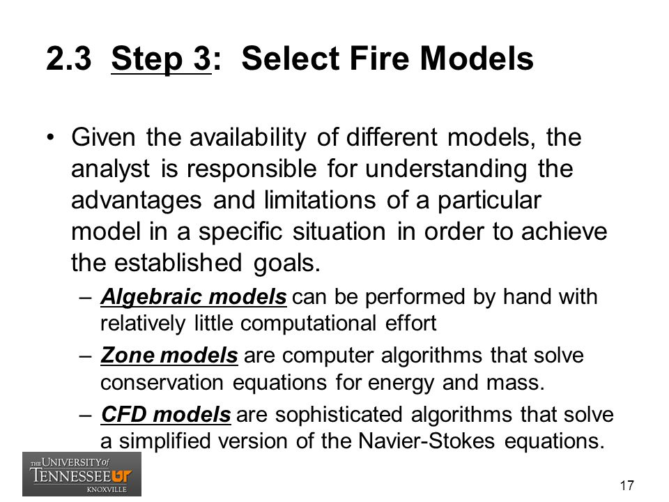 2.3 Step 3: Select Fire Models