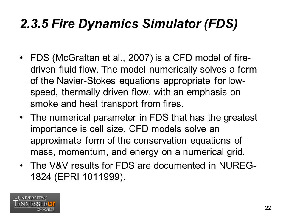 2.3.5 Fire Dynamics Simulator (FDS)