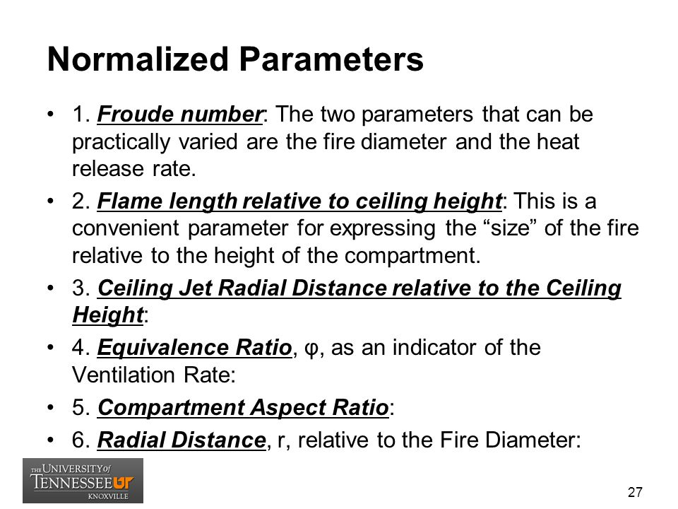 Normalized Parameters