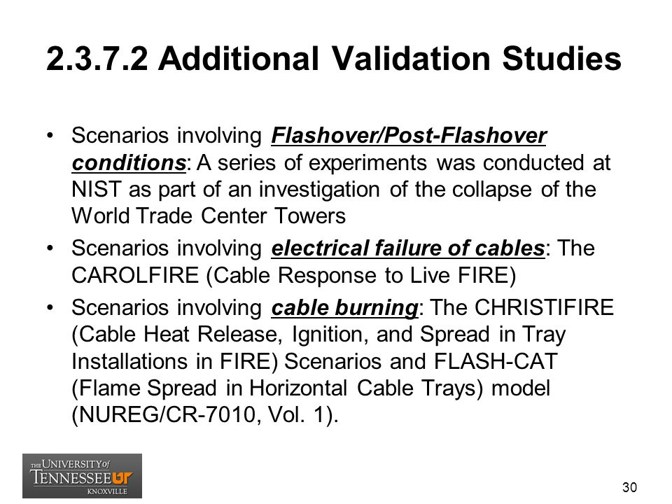 2.3.7.2 Additional Validation Studies