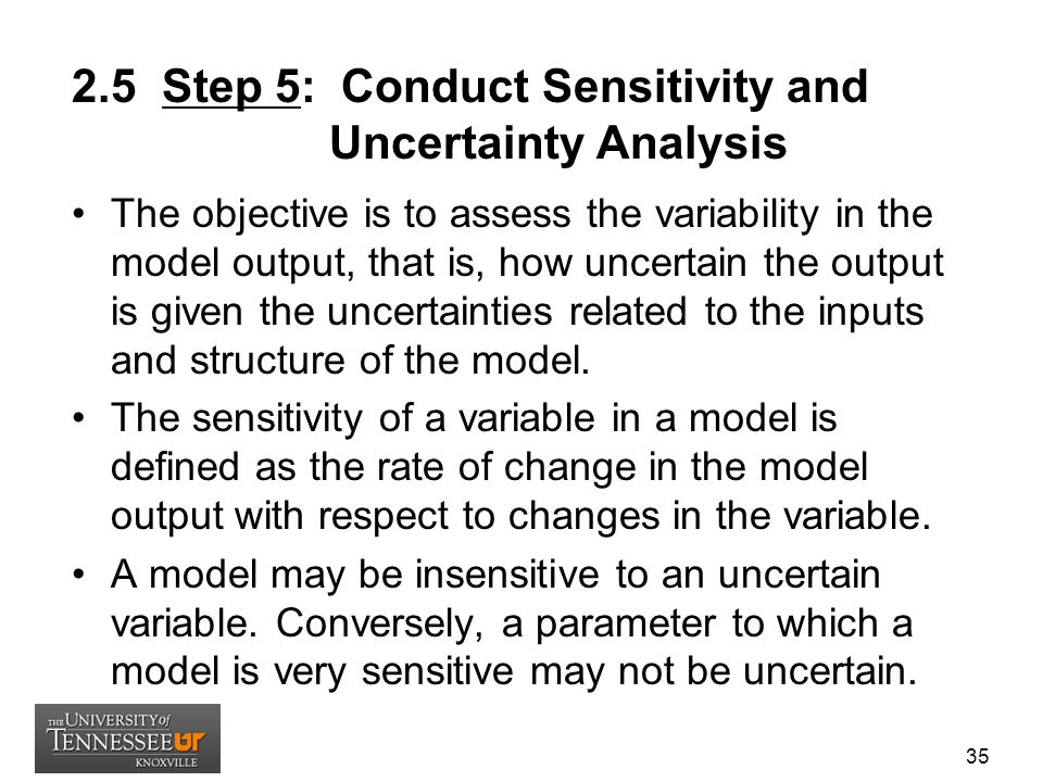 2.5 Step 5: Conduct Sensitivity and Uncertainty Analysis