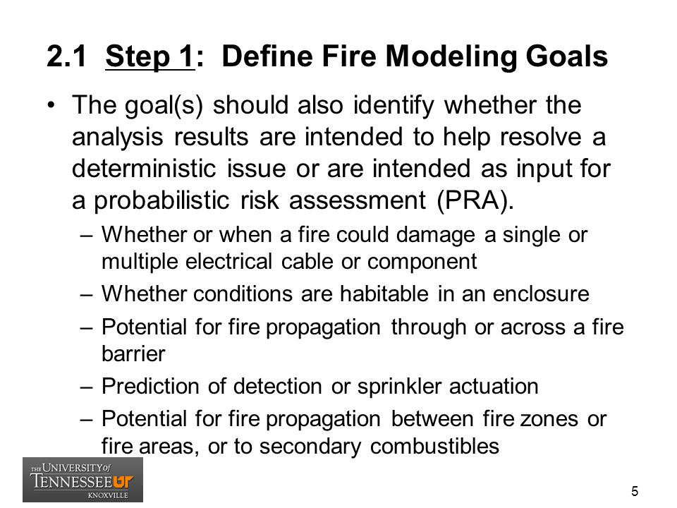 2.1 Step 1: Define Fire Modeling Goals