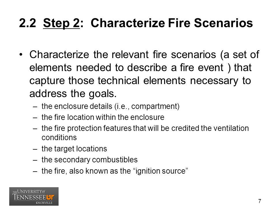 2.2 Step 2: Characterize Fire Scenarios