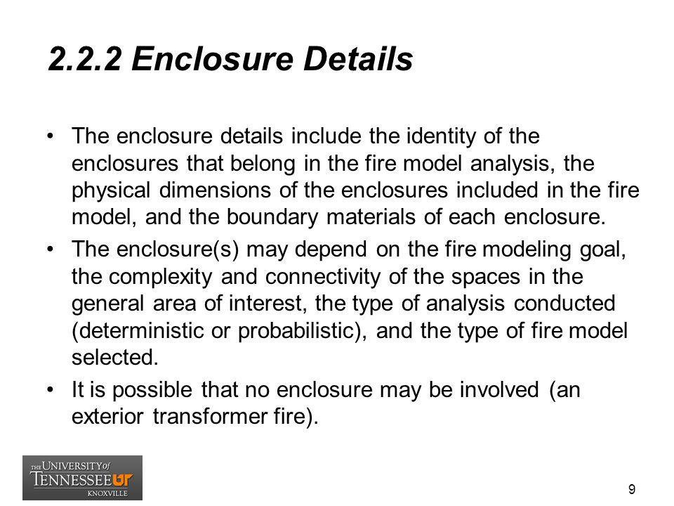 2.2.2 Enclosure Details