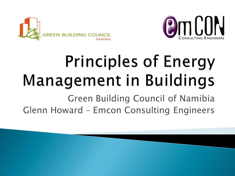 Principles of Energy Management in Buildings