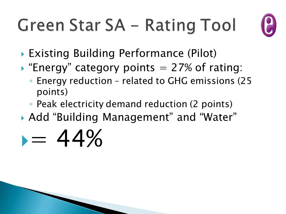 Green Star SA - Rating Tool