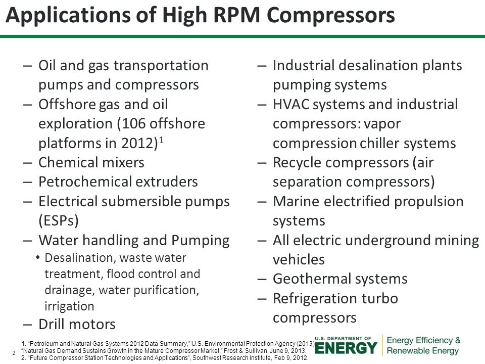 Applications of High RPM Compressors
