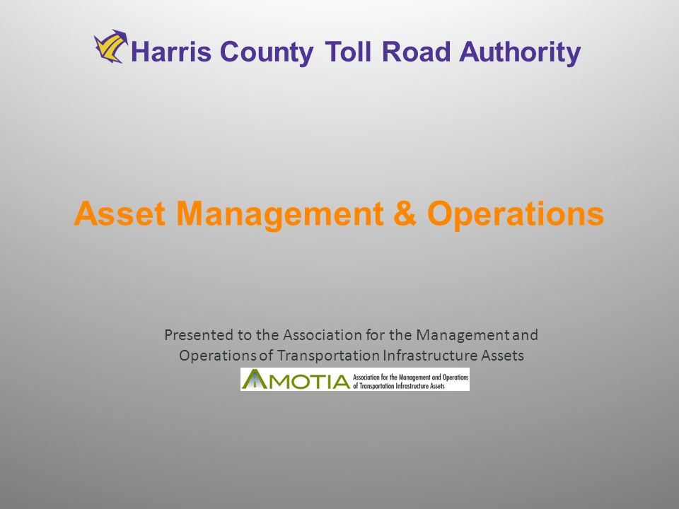 Asset Management & Operations