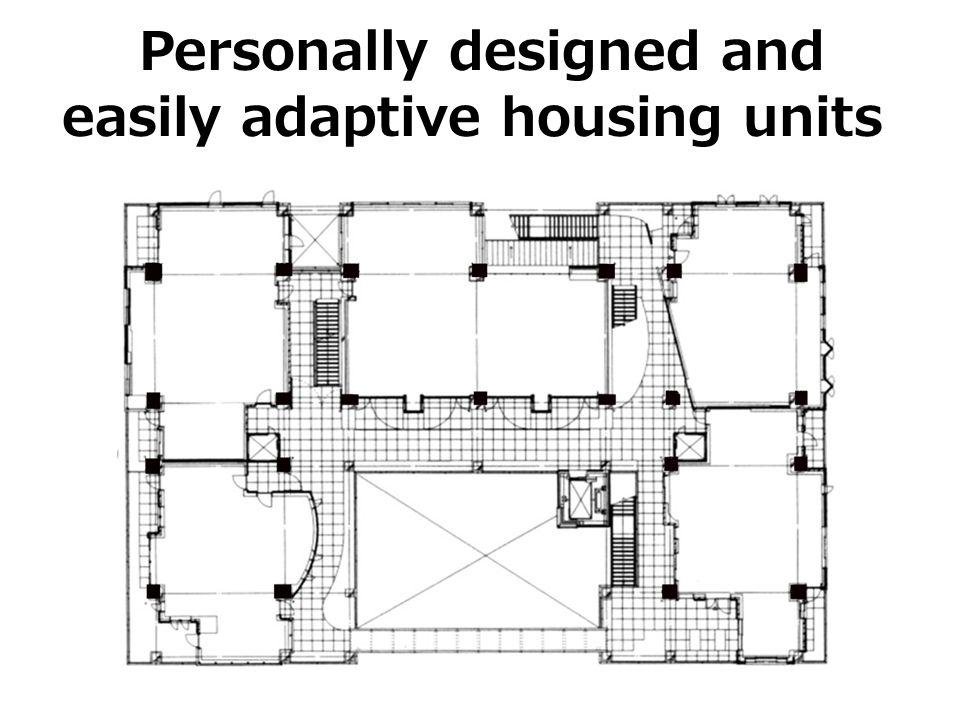 Personally designed and easily adaptive housing units