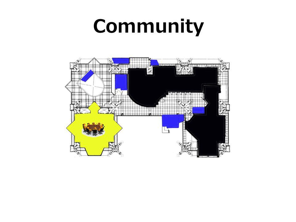 Community בחלק אחר של הקומה השניה השתמש על מנת ליצור שתי יחדיות מגורים, ואילו השטחים שנותרו ישמשו כשטח ציבורי של הבניין.