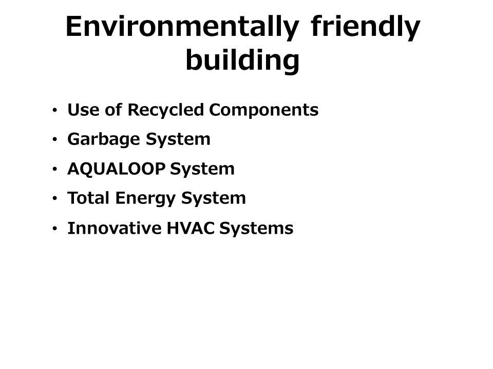 Environmentally friendly building