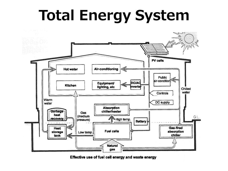 Total Energy System בנוסף נעשה שימוש בתאים סולאריים, בגז טבעי ובתאי דלק כל אלה יוצרים ניצול אנרגיה יעיל וחסכוני.