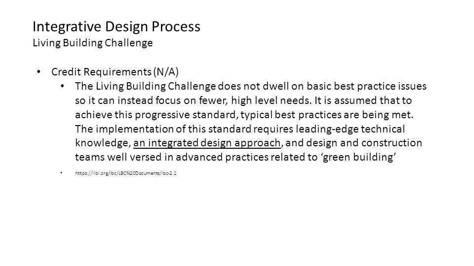 Integrative Design Process