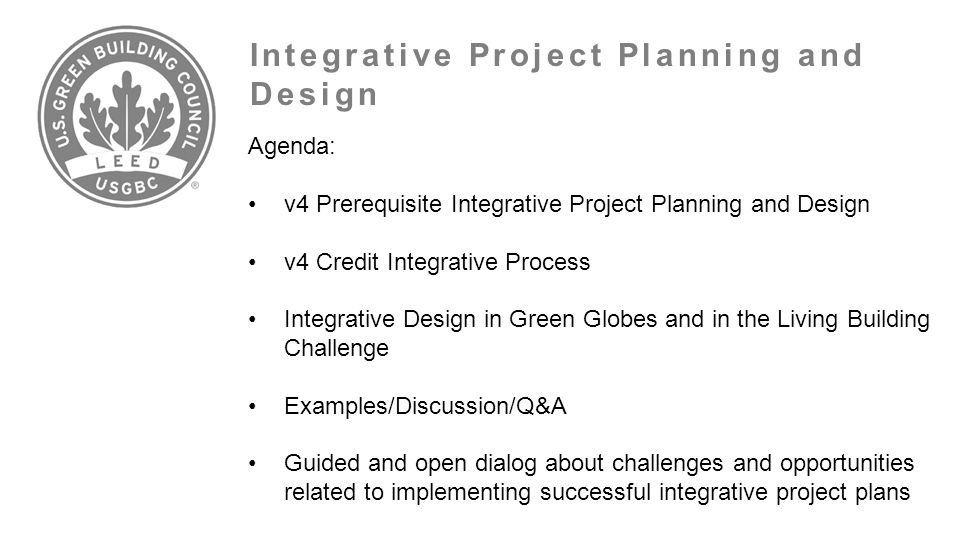 Integrative Project Planning and Design