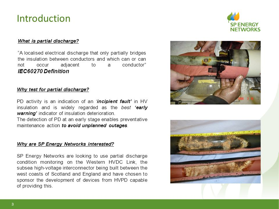 Introduction What is partial discharge