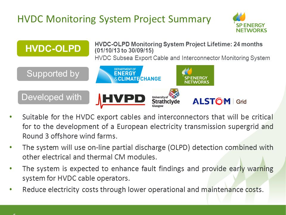 HVDC Monitoring System Project Summary