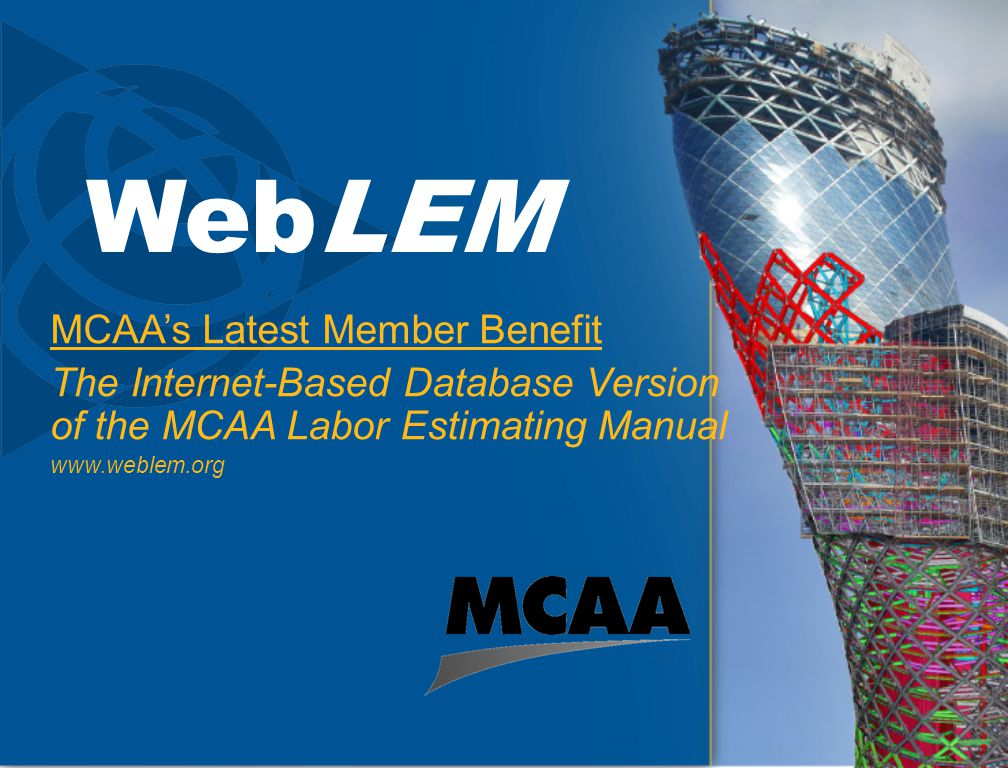 WebLEM MCAA's Latest Member Benefit