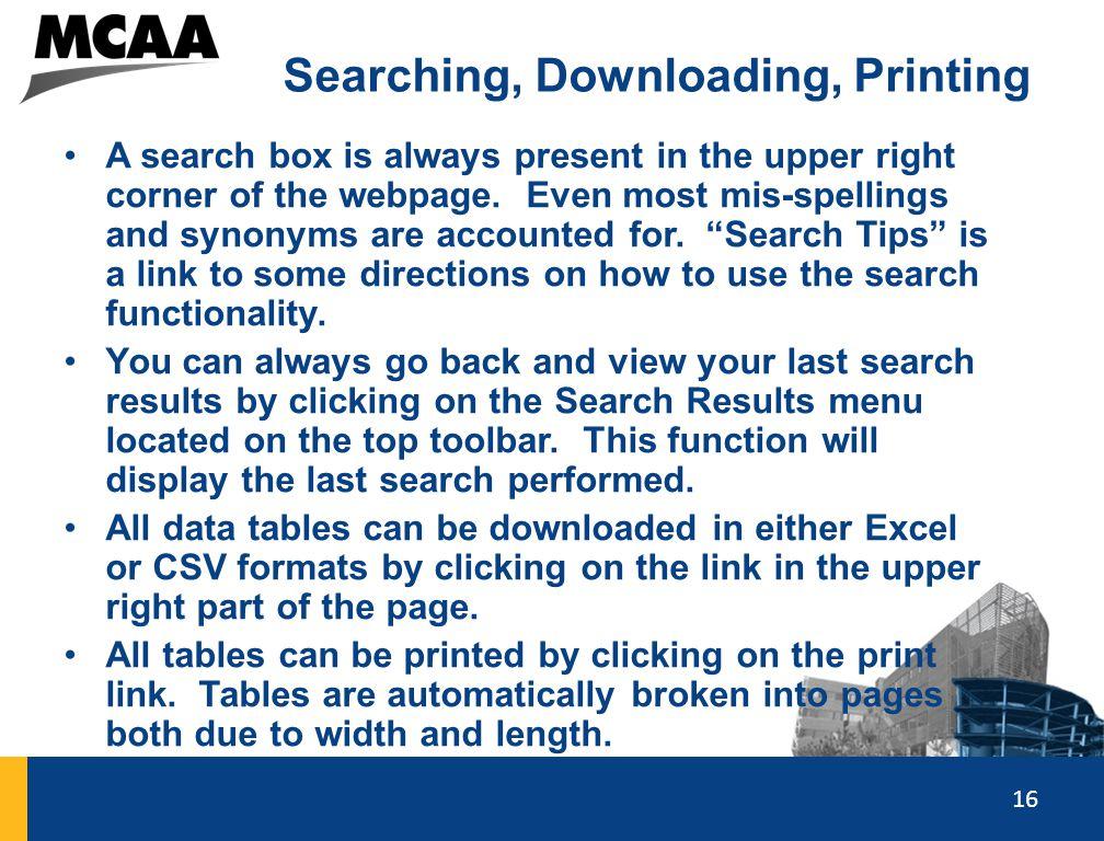 Searching, Downloading, Printing
