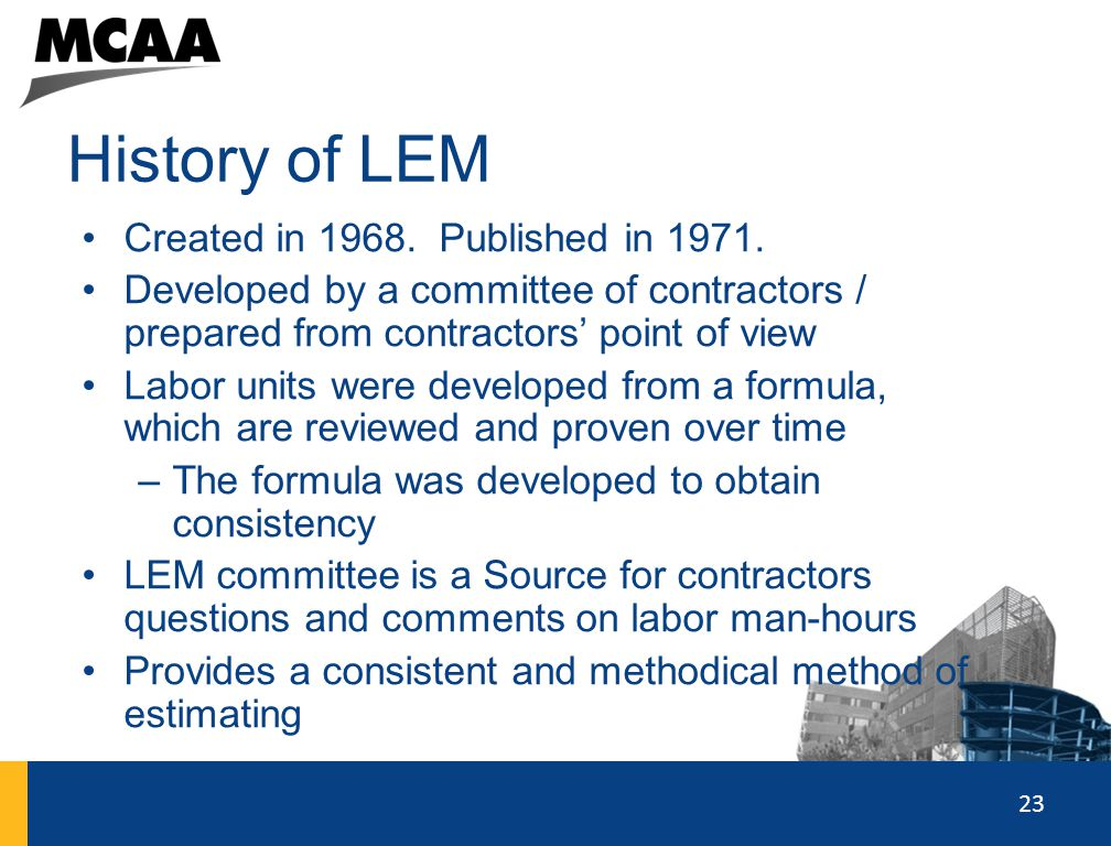 History of LEM Created in 1968. Published in 1971.