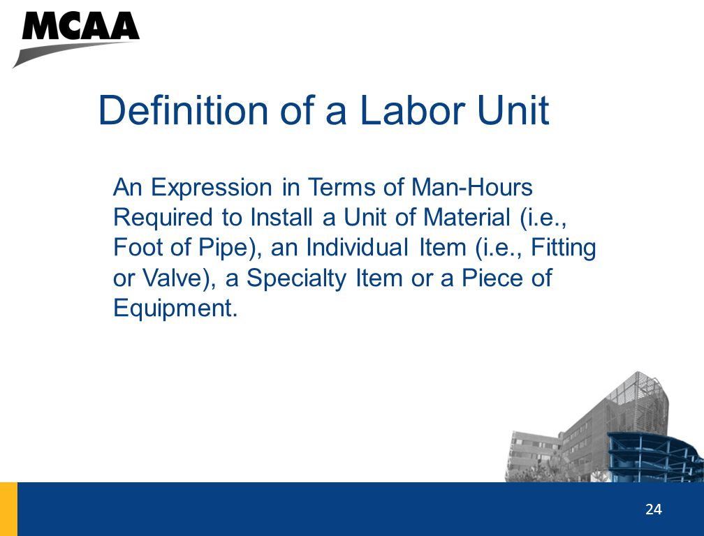 Definition of a Labor Unit