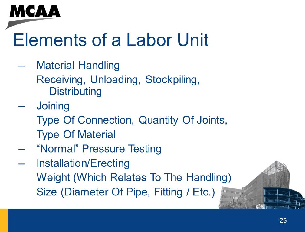 Elements of a Labor Unit