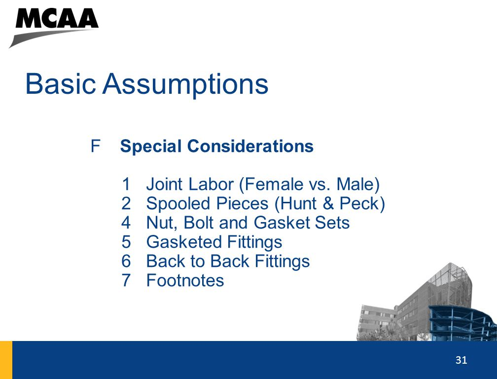 Basic Assumptions Special Considerations Joint Labor (Female vs. Male)