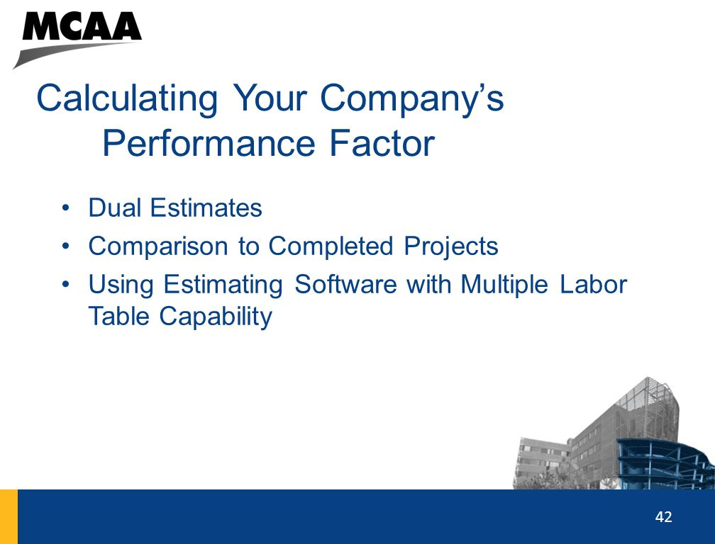 Calculating Your Company's Performance Factor