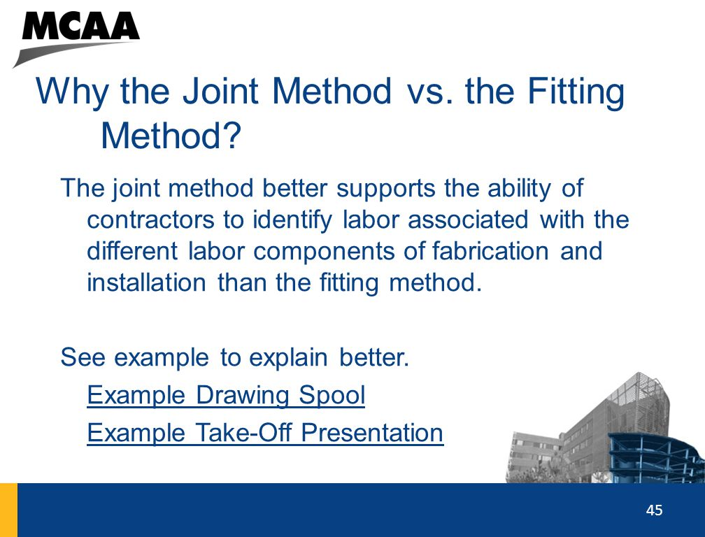 Why the Joint Method vs. the Fitting Method
