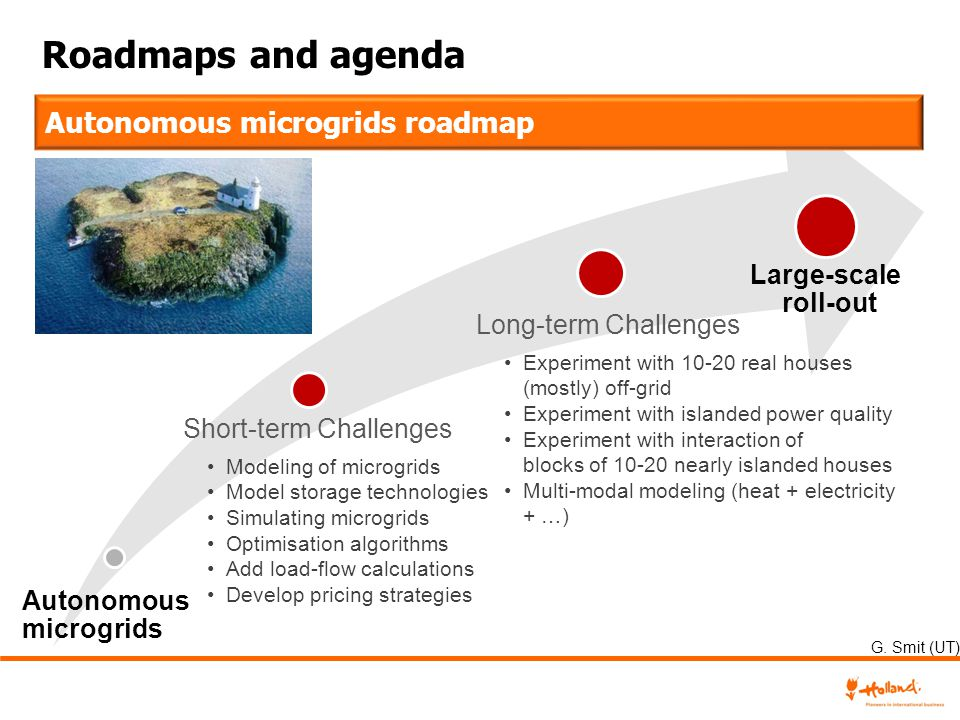 Roadmaps and agenda Autonomous microgrids roadmap Large-scale roll-out