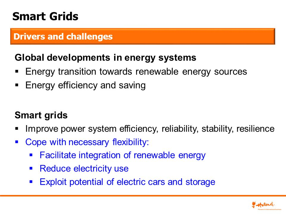 Smart Grids Global developments in energy systems