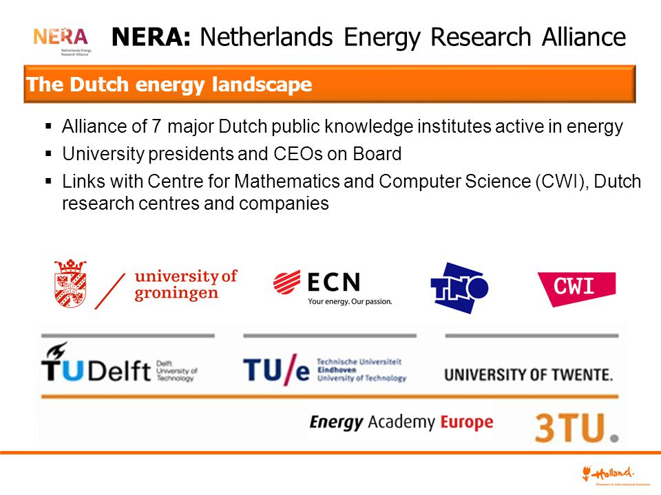 NERA: Netherlands Energy Research Alliance