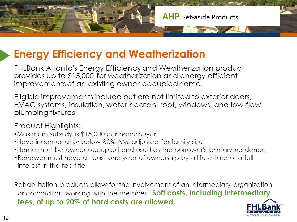 Energy Efficiency and Weatherization