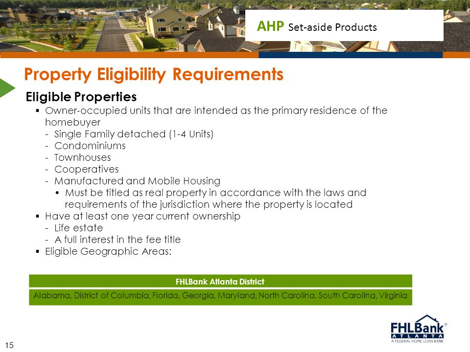 Property Eligibility Requirements