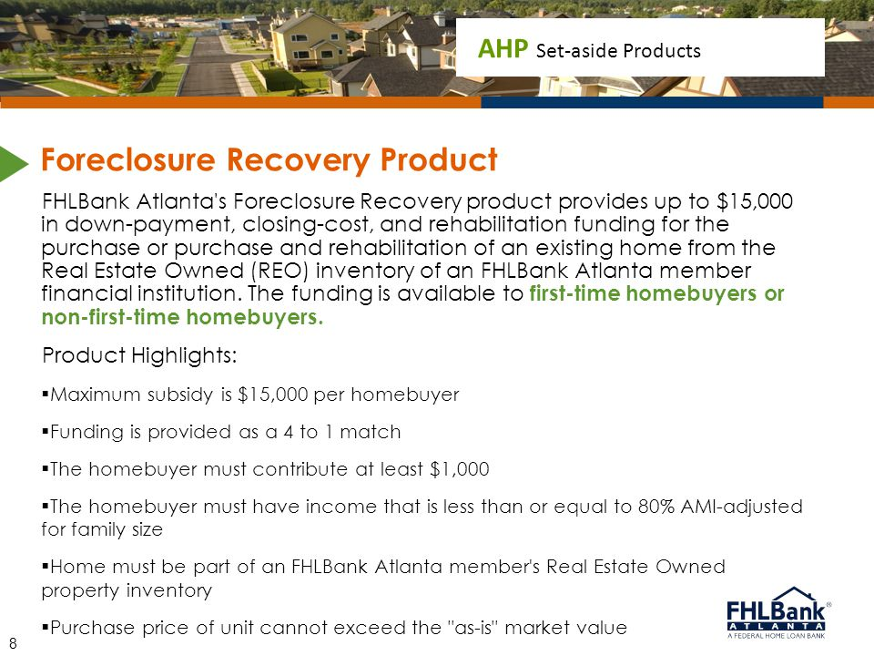 Foreclosure Recovery Product