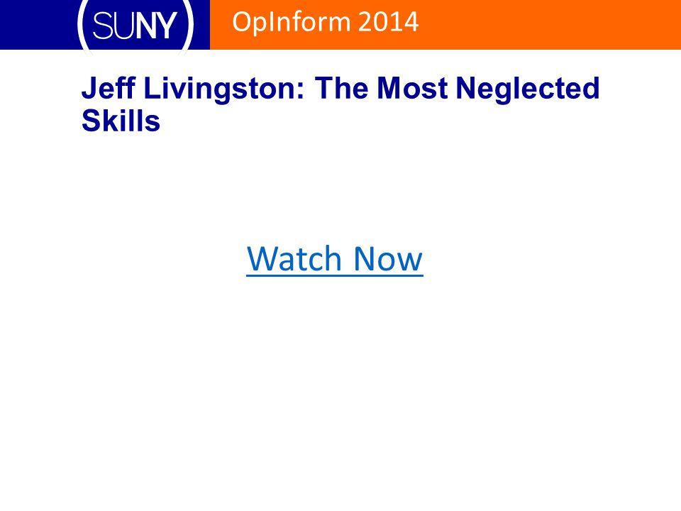 Jeff Livingston: The Most Neglected Skills