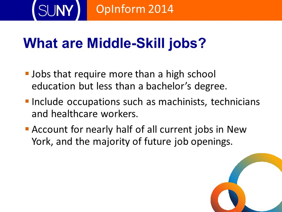 What are Middle-Skill jobs