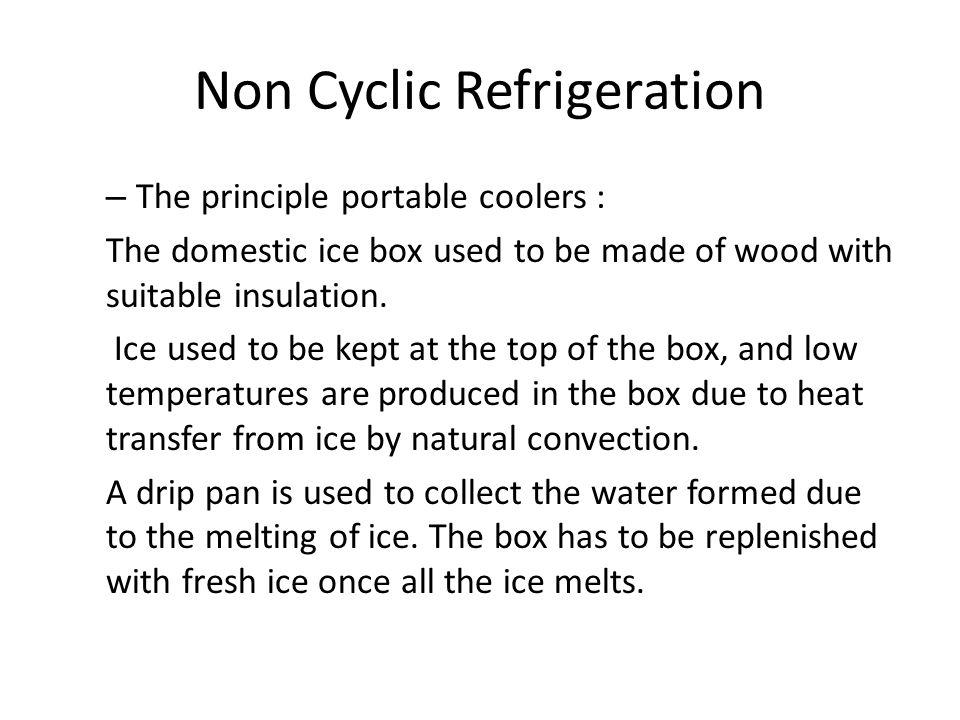 Non Cyclic Refrigeration