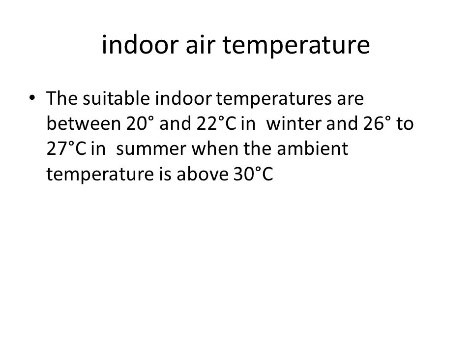 indoor air temperature