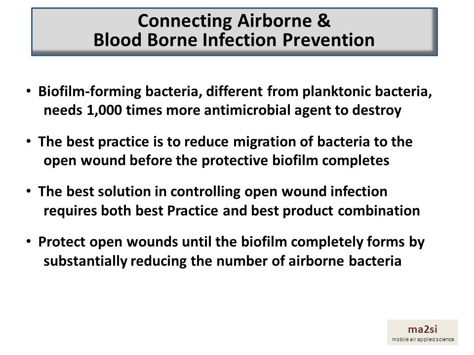 Connecting Airborne & Blood Borne Infection Prevention