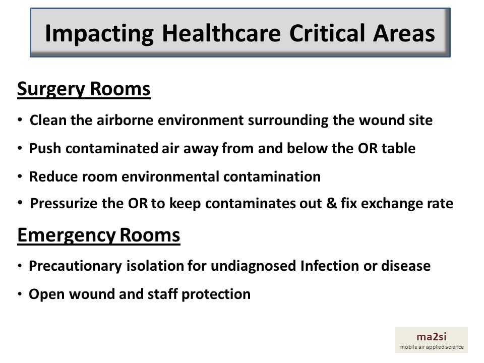 Impacting Healthcare Critical Areas
