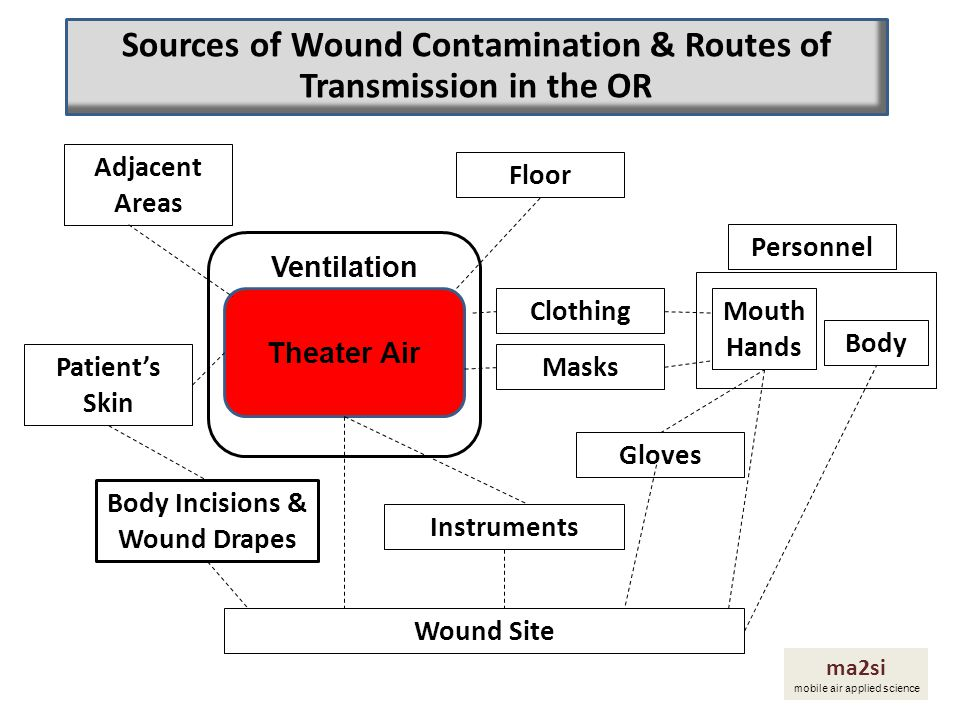 Sources of Wound Contamination & Routes of Transmission in the OR