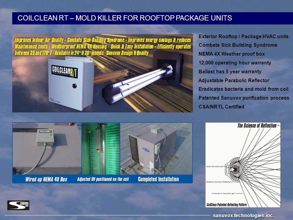 COILCLEAN RT – MOLD KILLER FOR ROOFTOP PACKAGE UNITS
