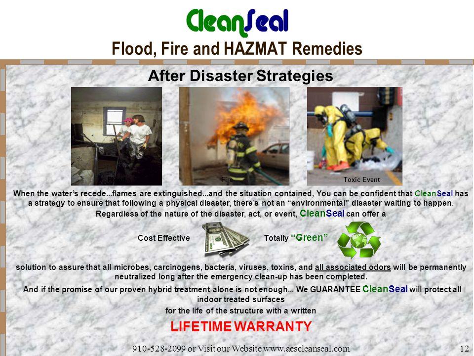 Flood, Fire and HAZMAT Remedies