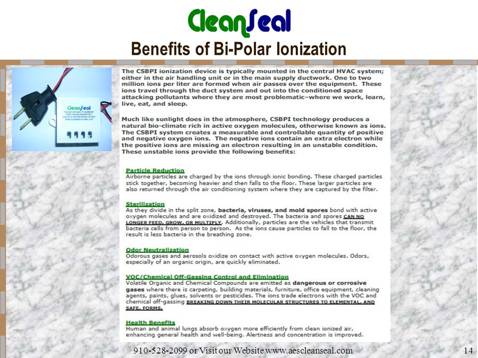 Benefits of Bi-Polar Ionization