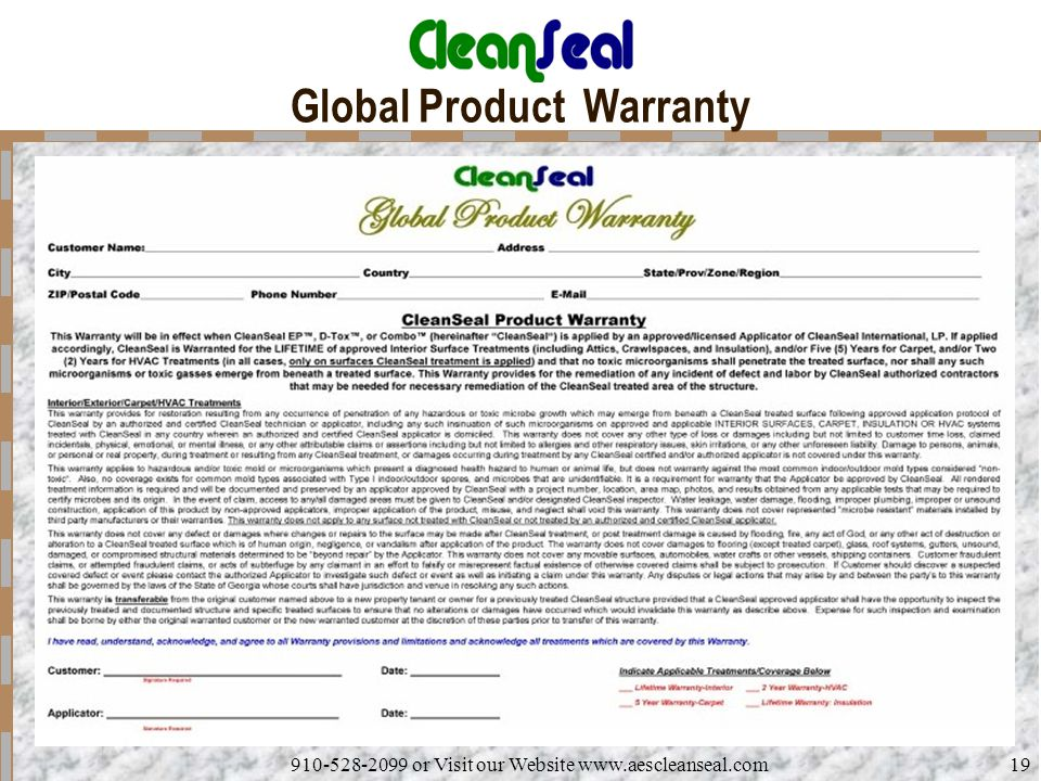 Global Product Warranty