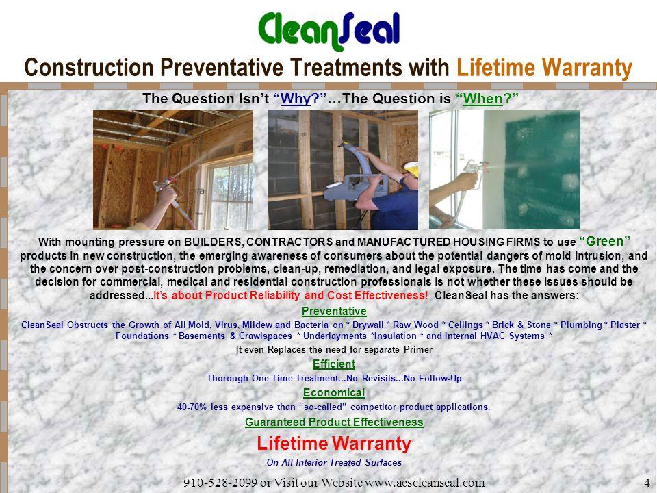 Construction Preventative Treatments with Lifetime Warranty