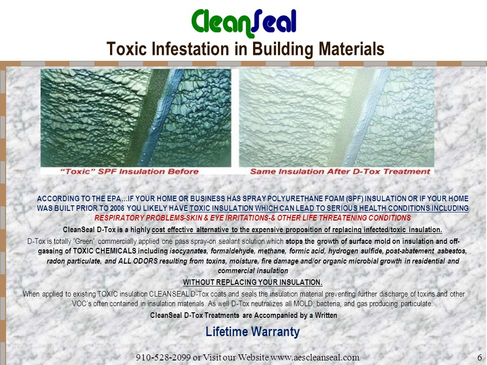 Toxic Infestation in Building Materials
