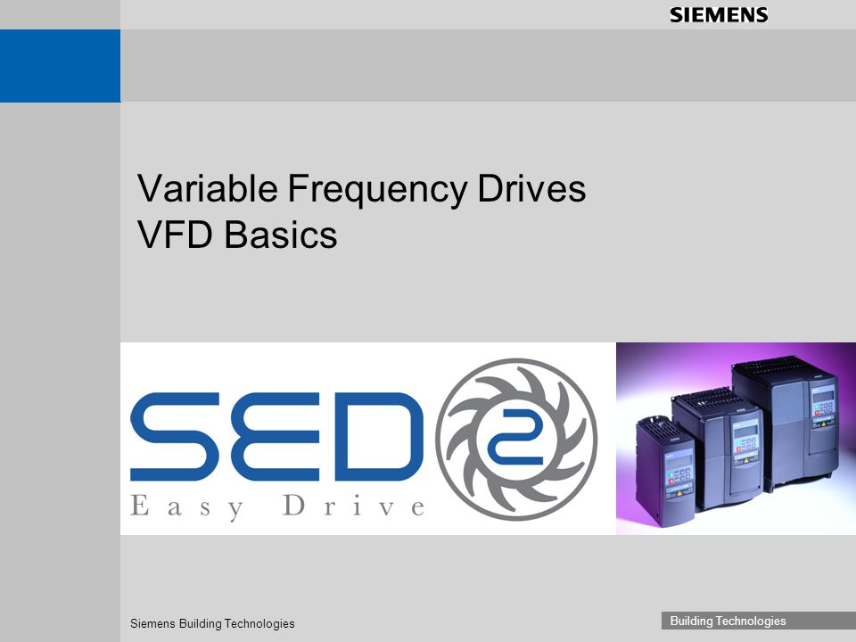 Variable Frequency Drives VFD Basics