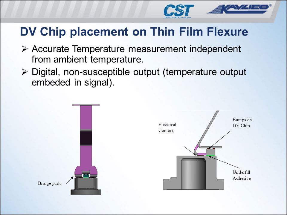 DV Chip placement on Thin Film Flexure