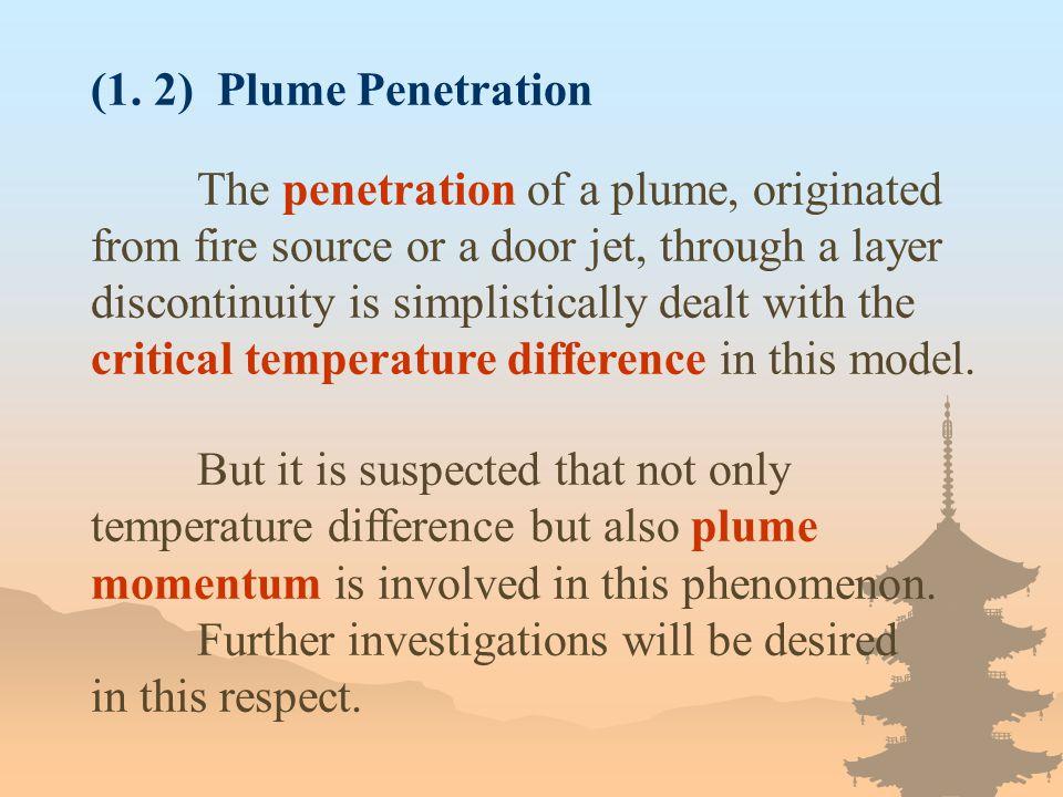 (1. 2) Plume Penetration